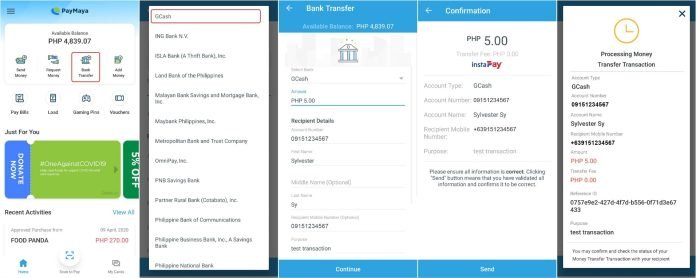How To Transfer Money From PayMaya To GCash
